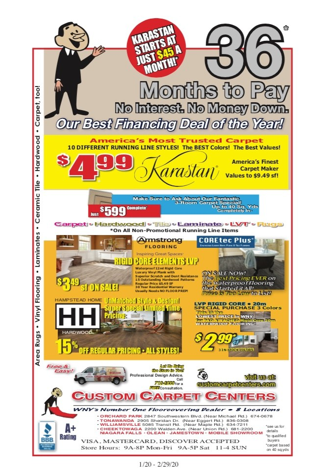 Custom Carpet Centers Ad